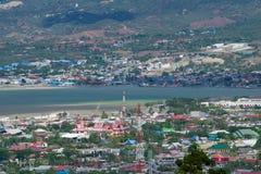 Palu Iconic Bridge Destroyed After Tsunami royalty free stock photography