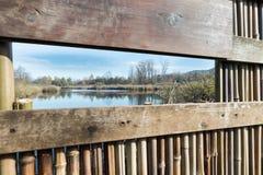 Palude di Brabbia della riserva naturale, provincia di Varese, Italia, Fotografia Stock