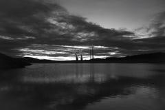 Palude e termale, Cubillos del Sil e Barcena centrali fotografia stock libera da diritti