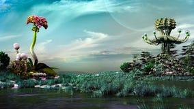 Palude su un altro pianeta illustrazione di stock