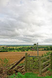 Paludi di Lincolnshire vedute da una collina nei Wolds fotografia stock libera da diritti