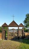 Paluse drewniany kościół w Aukstaitija parku narodowym w Lithuania Zdjęcie Royalty Free