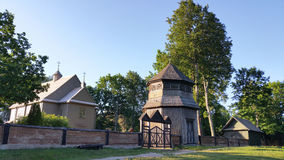 Paluse wooden church in the Aukstaitija National Park in Lithuania. The church of Paluse, built in 1750, is considered to be the oldest surviving wooden church Royalty Free Stock Photo