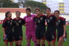 Palyers mexicanos do futebol foto de stock