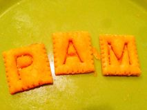 PAM. Cheez its crackers name Stock Image