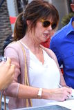 Pam Dawber. Pam attends Walk of Fame ceremony for Mark Harmon Royalty Free Stock Photos