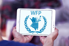 PAM, logo de programme mondial de l'alimentation Photo stock
