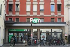 Pam. A Pam supermarket in Padua, Veneto Royalty Free Stock Images