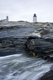 Pamaquid Point Lighthouse Stock Photo