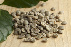 Pambamwa green unroasted coffee beans Royalty Free Stock Photos