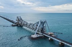 Pamban bridge Stock Photography