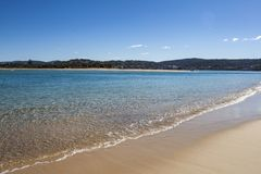 Pambula beach nsw australia clean water unspoiled places. Beach Landscape NSW Australia Royalty Free Stock Photography