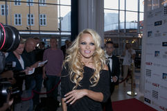 Pamela Anderson. Was in Denmark to participate in a celebrity party Royalty Free Stock Images