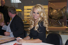 Pamela Anderson. Was in Denmark to participate in a celebrity party Stock Images