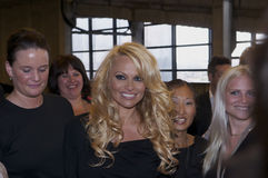 Pamela Anderson. Was in Denmark to participate in a celebrity party Stock Photos