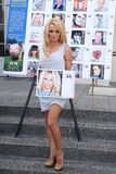 Pamela Anderson. At the PETA Goes Postal Postage Stamp Unveiling, Hollywood Post Office, Hollywood, CA 11-29-11 Stock Photos