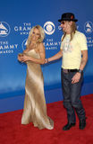 Pamela Anderson,Kid Rock. Actress PAMELA ANDERSON & rock star boyfriend KID ROCK at the 2002 Grammy Awards in Los Angeles Stock Image