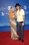 Pamela Anderson,Kid Rock. Actress PAMELA ANDERSON & rock star boyfriend KID ROCK at the 2002 Grammy Awards in Los Angeles Royalty Free Stock Photos