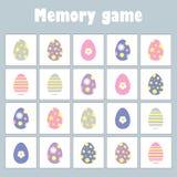 Pamięci gra z obrazka Easter tematem dla dzieci, zabawy edukacji gra dla dzieciaków, preschool aktywność, zadanie dla rozwoju ilustracji