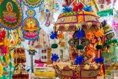 Pamiątka w prezentów sklepach przy Małym India, Singapur Obraz Royalty Free