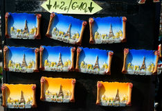 Pamiątkarscy magnesu Paryż punkty zwrotni Obrazy Royalty Free