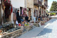 Pamiątkarscy sklepy w Icherisheher, Baku, Azerbejdżan zdjęcie royalty free