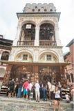 Pamiątkarski sklep pod dzwonnicy Rila monasterem w Bułgaria Obrazy Royalty Free