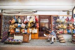 Pamiątkarski sklep w Istanbuł fotografia stock