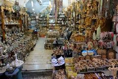 Pamiątkarski sklep w Starym mieście Jerozolima Obraz Royalty Free