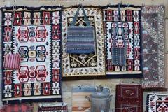 Pamiątkarski stojak w Baku starym miasteczku Obrazy Royalty Free