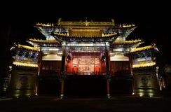 Pamiątkowa brama z światłami Zdjęcia Stock
