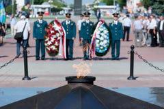 Pamiątkowa ceremonia przy Wiecznie płomieniem Zdjęcia Stock