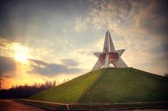 Pamiątkowa militarna chwała Kopiec nieśmiertelność Bryansk w wieczór Obraz Stock