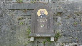 Pamiątkowa plakieta L L Zamenhof w Udine, Włochy zdjęcie wideo