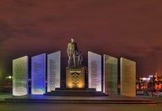 Pamiątkowi żołnierze prawo i porządek Noc widok, Chelyabinsk zdjęcie royalty free