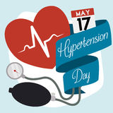 Pamiątkowi Medyczni elementy dla Światowego nadciśnienie dnia ilustracja wektor