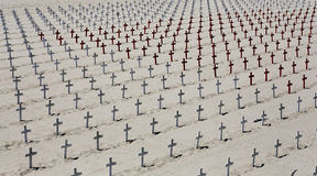 Pamiątkowy cmentarz na Snata Monica plaży, Kalifornia Zdjęcia Royalty Free