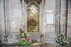 Pamiątkowy mosiądz dedykował Jane Austen, angielski powieściopisarz obraz stock