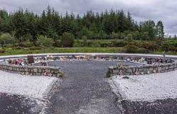 Pamiątkowy okrąg przy desantowiec Pamiątkową statuą, Szkocja obrazy royalty free