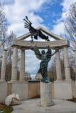 Pamiątkowy punkt zwrotny przy wolność kwadratem w Budapest zdjęcia royalty free