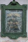 Pamiątkowy talerz o Briare akwedukcie zdjęcia stock