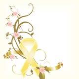 pamiątkowy tasiemkowy kolor żółty Zdjęcie Stock