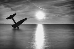 Pamiątkowy zabytek rozbijał Sprzymierzoną lotnik drugą wojnę światową i zabił zdjęcia stock