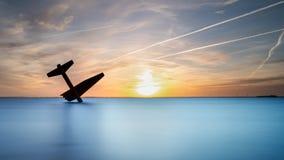 Pamiątkowy zabytek rozbijał Sprzymierzoną lotnik drugą wojnę światową W harderwijk i zabił holandie zdjęcia stock