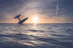 Pamiątkowy zabytek rozbijał Sprzymierzoną lotnik drugą wojnę światową W harderwijk i zabił holandie zdjęcia royalty free
