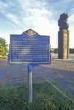 Pamiątkowy znak dla ï ¿ ½ Anthonyï ¿ ½ pierwszy afrykanin na Delaware przynoszącym od Karaiby fort Christina, fort Christi zdjęcie royalty free