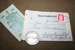Pamięć drugi wojna światowa 1941-1945 Od kapitanu Kovalev unassembled archiwum obraz stock