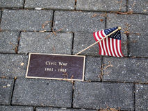 Pamięć (znak dedykował Cywilną wojnę) Zdjęcie Stock