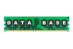 pamięci komputerowej bazy danych słowo Obraz Stock