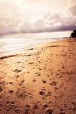 Pamiętający w plaży Obrazy Royalty Free